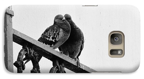 Galaxy Case featuring the photograph Pigeons by Meagan  Visser