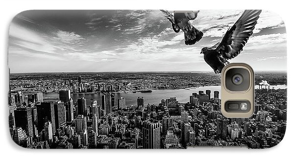Pigeon Galaxy S7 Case - Pigeons On The Empire State Building by