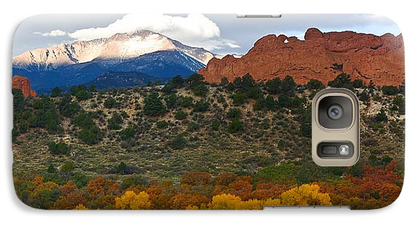 Galaxy Case featuring the photograph Pikes Peak Fall Pano by Ronda Kimbrow
