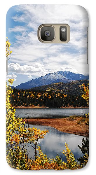 Galaxy Case featuring the photograph Pikes Peak In Autumn by Lincoln Rogers