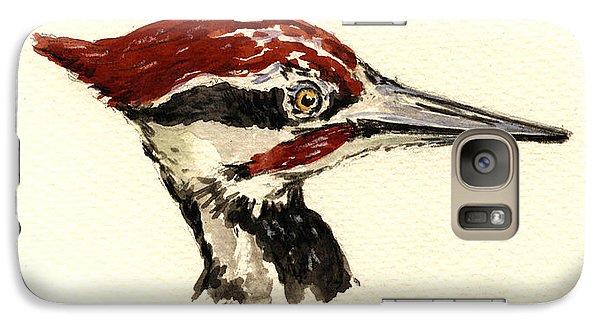 Woodpecker Galaxy S7 Case - Pileated Woodpecker Head Study by Juan  Bosco