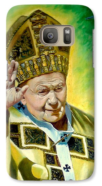 Galaxy Case featuring the painting Pilgrim by Henryk Gorecki