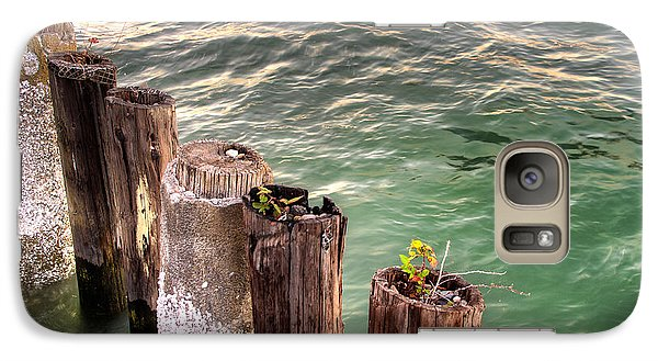 Galaxy Case featuring the photograph Pilings In Commencement Bay Tacoma Wa by Rob Green