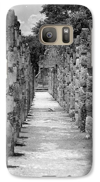 Galaxy Case featuring the digital art Pillars In A Row by Kirt Tisdale