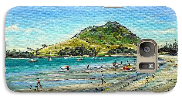 Galaxy Case featuring the painting Pilot Bay Mt M 050110 by Sylvia Kula