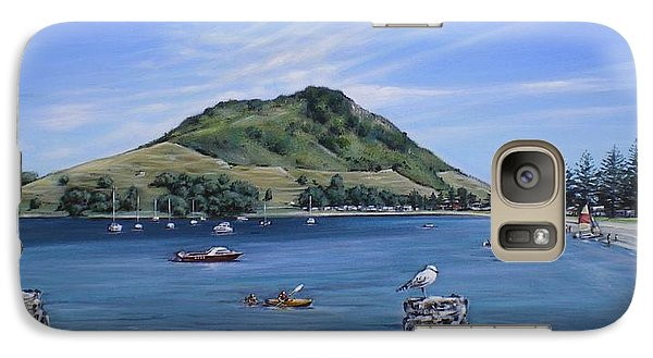 Galaxy Case featuring the painting Pilot Bay Mt M 291209 by Sylvia Kula