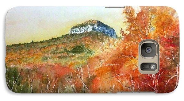 Galaxy Case featuring the painting Pilot Mountain 8x10 #2 by Richard Benson