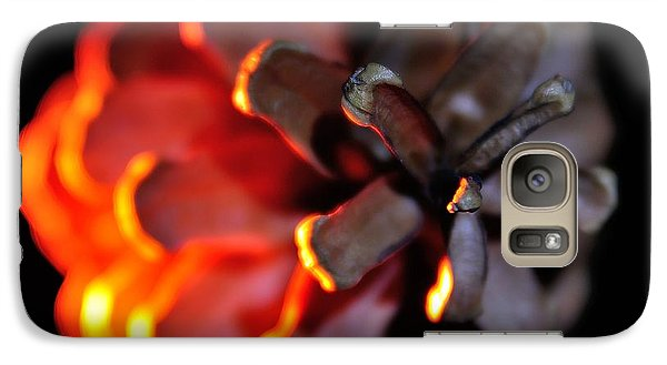 Galaxy Case featuring the photograph Pine Cone Fire by Todd Soderstrom