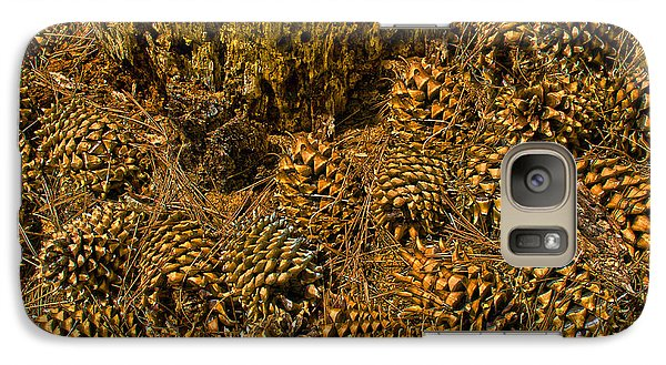 Galaxy Case featuring the photograph Pine Cone Gathering by Joseph Hollingsworth