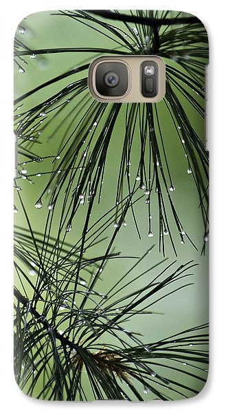 Galaxy Case featuring the photograph Pine Droplets by Judy  Johnson