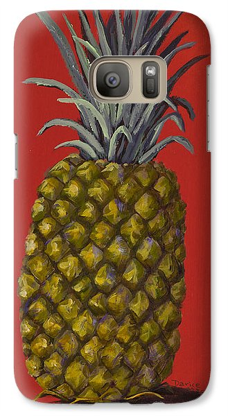 Pineapple On Red Galaxy S7 Case