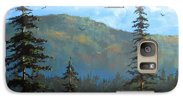 Galaxy Case featuring the painting Pines 2 by Carol Hart