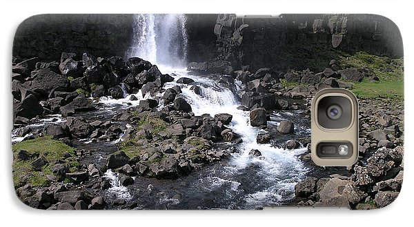 Galaxy Case featuring the photograph Pingvellir by Christian Zesewitz