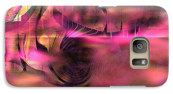 Galaxy Case featuring the painting Pink Abstract Nature by Yul Olaivar