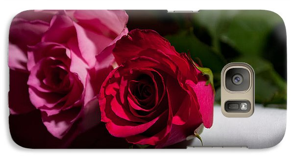 Galaxy Case featuring the photograph Pink And Red Rose by Matt Malloy