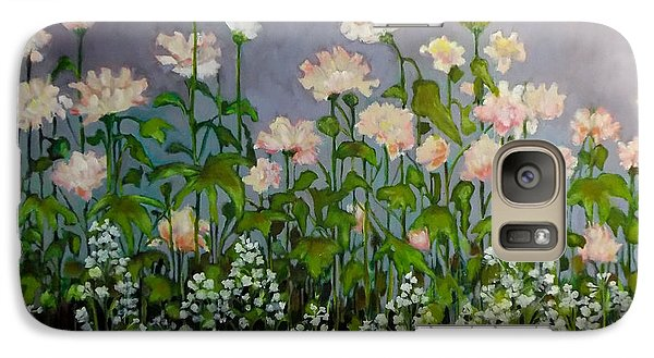 Galaxy Case featuring the painting Pink And White Flowers by Irena Mohr
