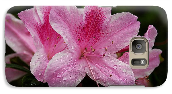 Galaxy Case featuring the photograph Pink Azalea by Lorenzo Cassina