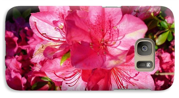Galaxy Case featuring the photograph Pink Azalea by Therese Alcorn
