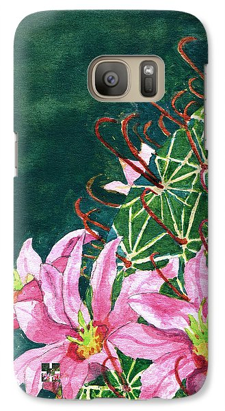 Galaxy Case featuring the painting Pink Beauty by Eric Samuelson
