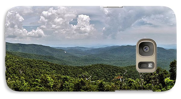 Galaxy Case featuring the photograph Pink Bed On Blue Ridge Parkway by Allen Carroll