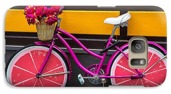 Bicycle Galaxy S7 Case - Pink Bike by Garry Gay