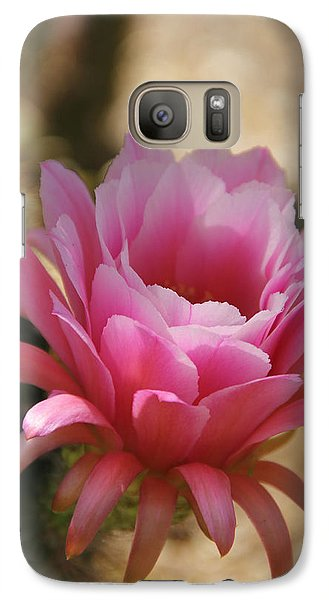 Galaxy Case featuring the photograph Pink Cactus by Tammy Espino