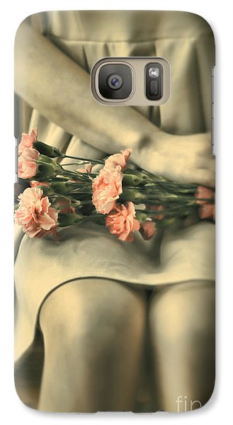 Galaxy Case featuring the photograph Pink Carnations by Craig B