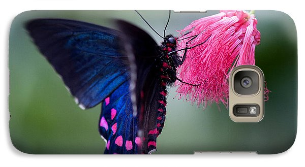 Galaxy Case featuring the photograph Pink Cattleheart Butterfly by Zoe Ferrie
