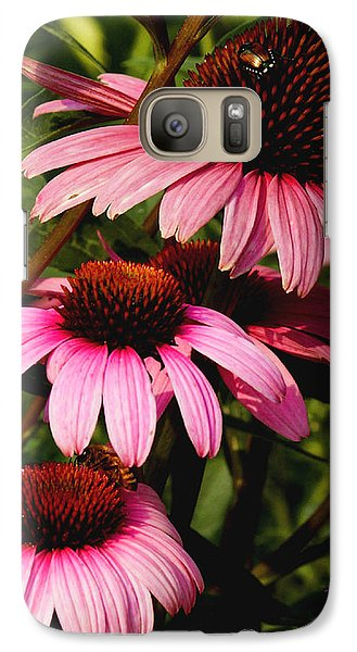 Galaxy Case featuring the photograph Pink Coneflowers by James C Thomas