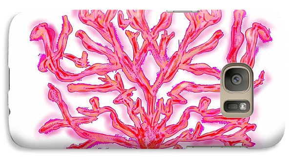 Galaxy Case featuring the digital art Pink Coral by Christine Fournier