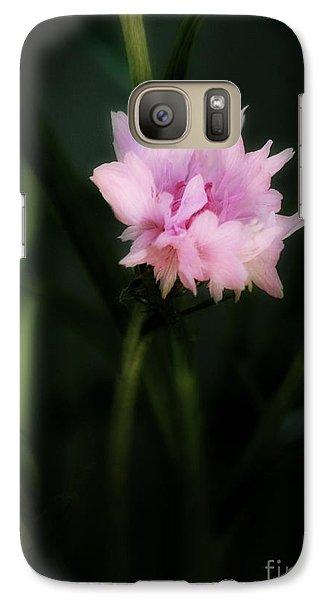 Galaxy Case featuring the photograph Pink Cornflower by Marjorie Imbeau