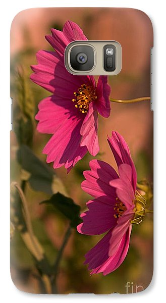 Galaxy Case featuring the photograph Pink Cosmos  by Marjorie Imbeau