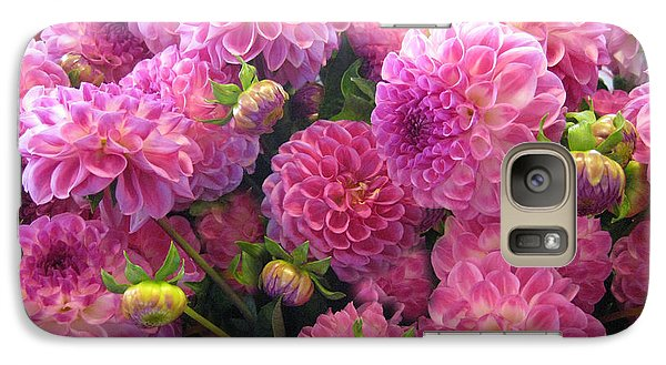Galaxy Case featuring the photograph Pink Dahlia Bouquet by Geraldine Alexander