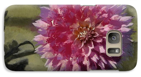 Galaxy Case featuring the painting Pink Dahlia by Jeff Kolker