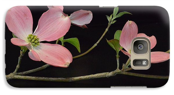 Galaxy Case featuring the photograph Pink Dogwood Branch  by Jeannie Rhode
