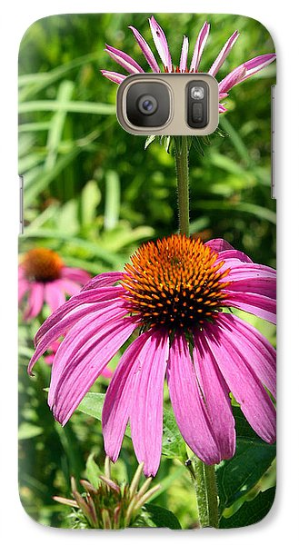 Galaxy Case featuring the photograph Pink Echinacea by Ellen Tully