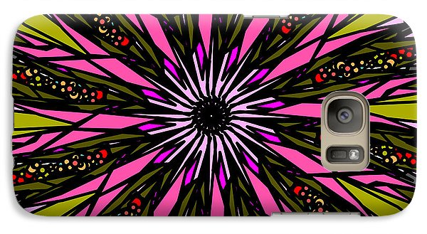 Galaxy Case featuring the digital art Pink Explosion by Elizabeth McTaggart