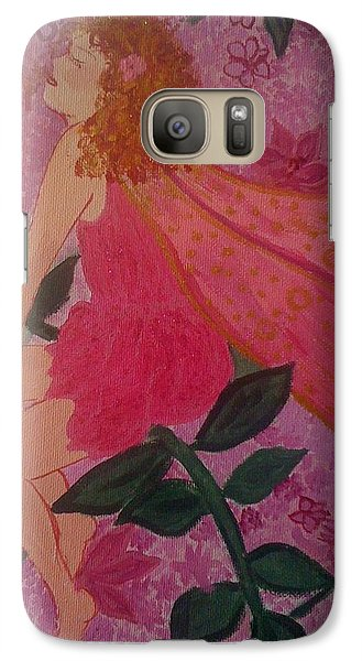 Galaxy Case featuring the painting Pink Fairy by Judi Goodwin