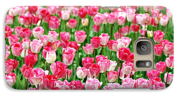 Galaxy Case featuring the photograph Pink Field by Kjirsten Collier
