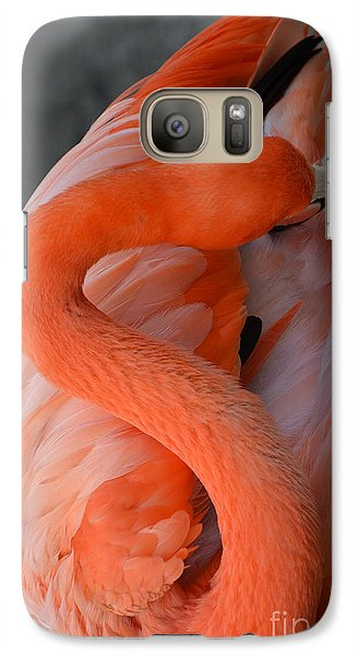 Galaxy Case featuring the photograph Pink Flamingo by Robert Meanor