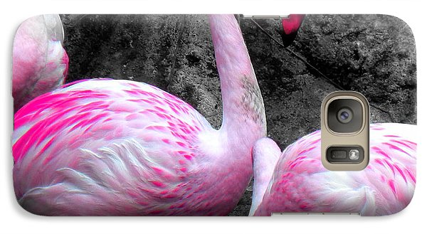 Galaxy Case featuring the photograph Pink Flamingos by J Anthony