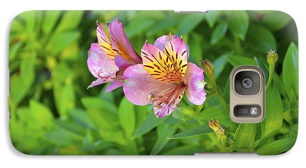 Galaxy Case featuring the photograph Pink Flower by Alex King