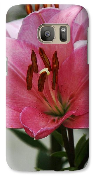 Galaxy Case featuring the photograph Pink Flower Central by Bill Woodstock