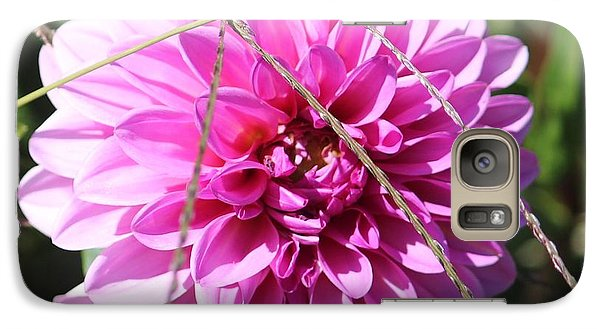 Galaxy Case featuring the photograph Pink Flower by Cynthia Snyder