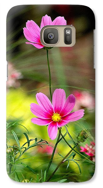Galaxy Case featuring the photograph Pink Flower by Ed Roberts