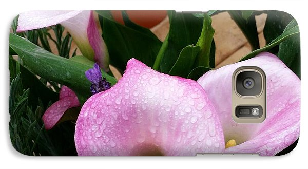 Galaxy Case featuring the photograph Pink Flower by Rose Wang