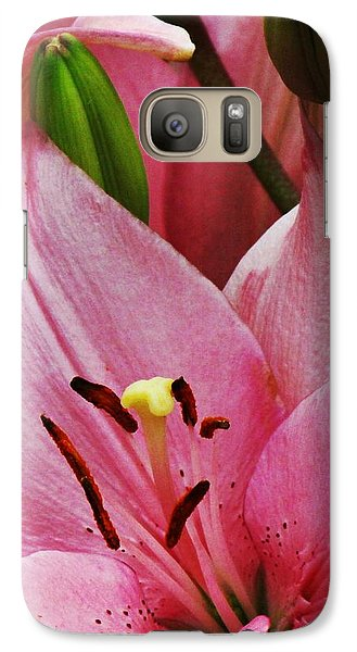 Galaxy Case featuring the photograph Pink Flower Upward Facing by Bill Woodstock