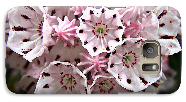 Galaxy Case featuring the photograph Pink Flowered Mountain Laurel by William Tanneberger