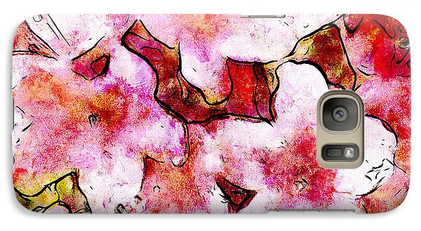 Galaxy Case featuring the painting Pink Flowers 2 by Greg Collins