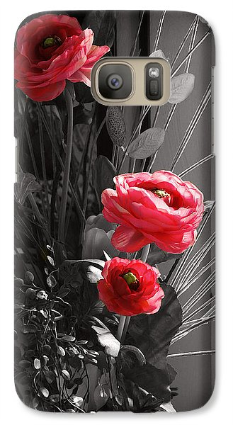 Galaxy Case featuring the digital art Pink Flowers by Kara  Stewart